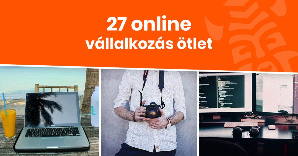 27 online vállalkozás ötlet