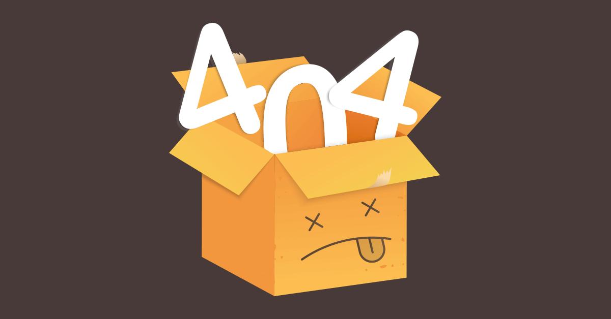 404 hiba doboz