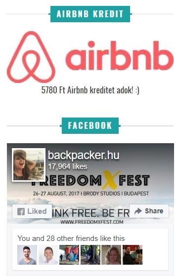 affiliate hirdetés Backpacker