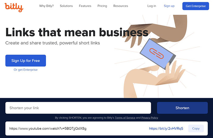 Bit.ly weboldal