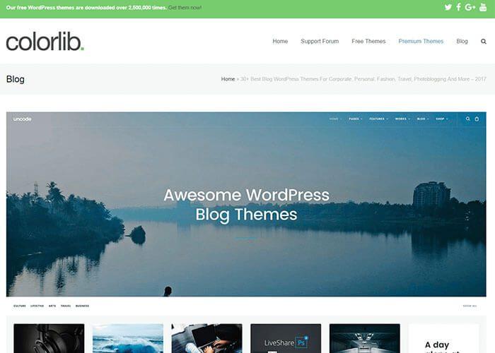 Colorlib WordPress sablonok