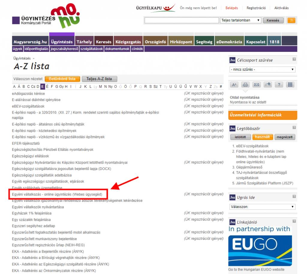 Magyarország online ügyintézés