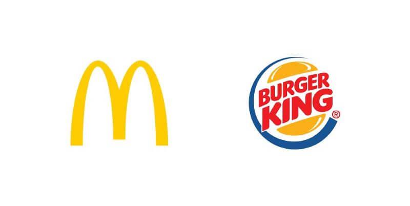 McDonalds - Burger King logók
