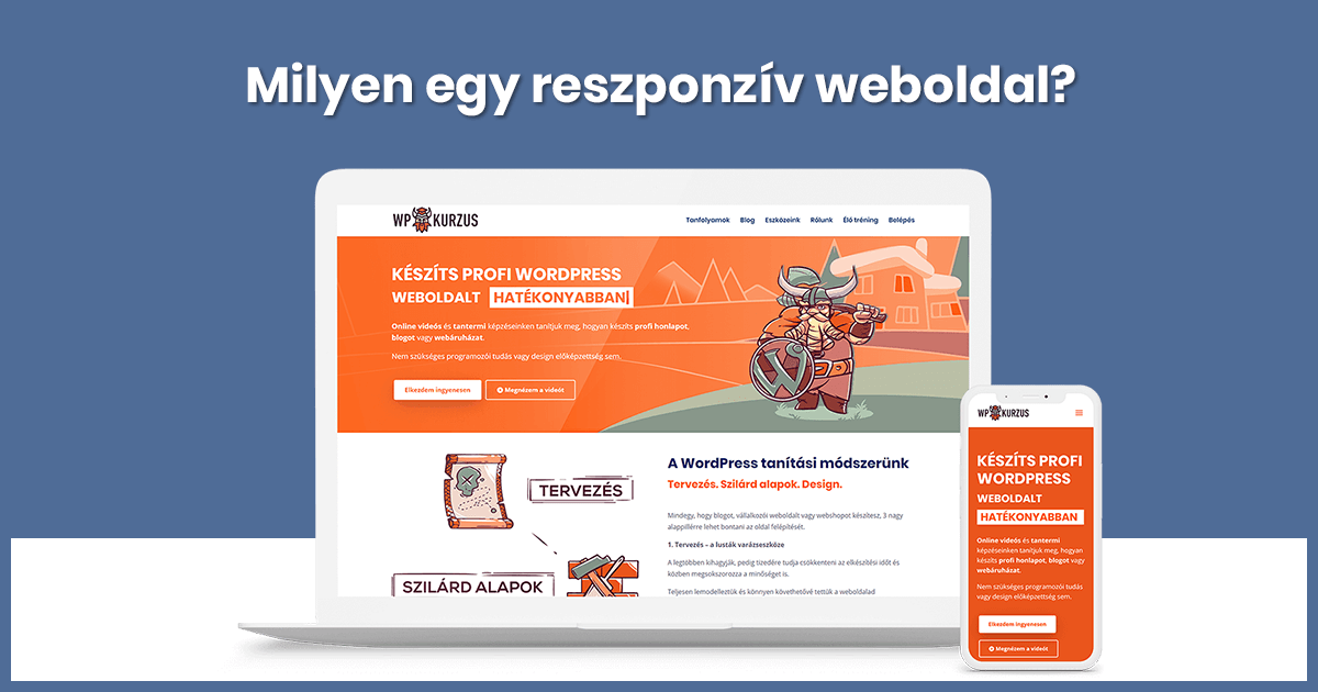 Milyen egy reszponzív weboldal?