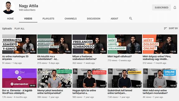 Nagy Attila Youtube videok