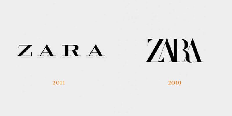 Zara új logó